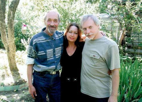 В саду  у дорогого учителя и друга  Николая Ивановича Балыкова