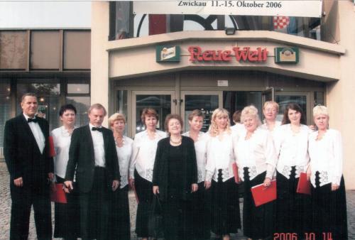 С Нижегородским  хором и его худ. руководителем Александрой Семёновной Макаровой в Германии 2006г.