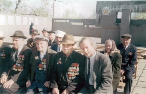 С ветеранами войны. Шатки. 2003 г.
